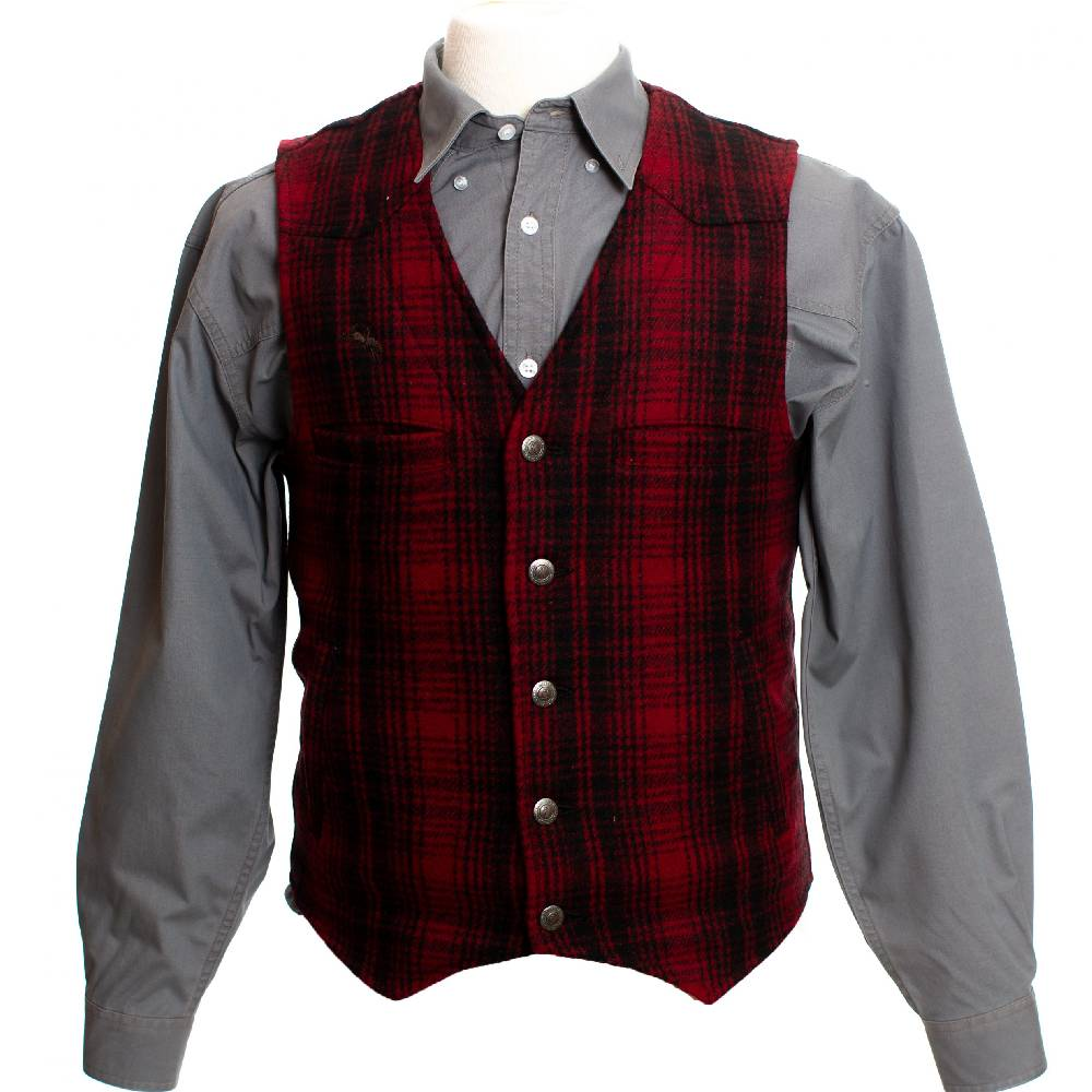 Wyoming Traders Red Plaid Vest MEN - Clothing - Outerwear - Vests WYOMING TRADERS Teskeys