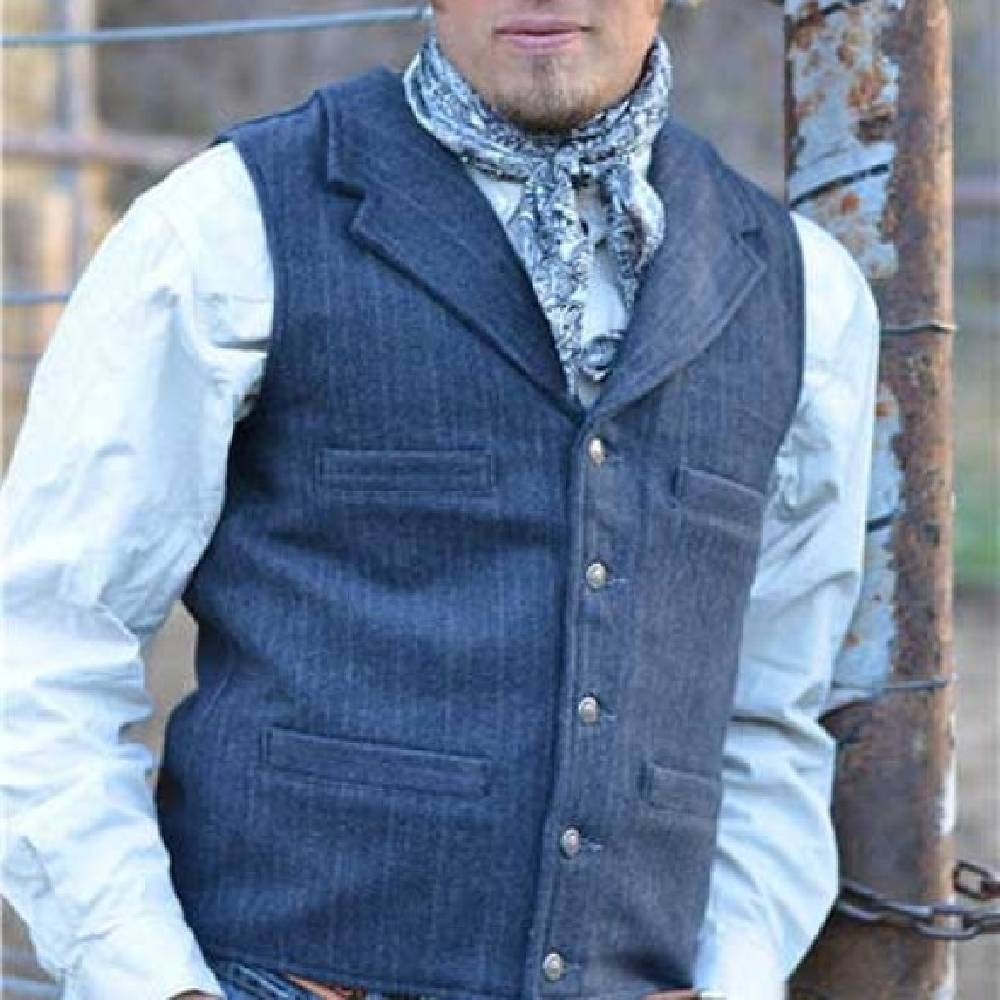 Wyoming Trader Wool Bankers Vest MEN - Clothing - Outerwear - Vests WYOMING TRADERS Teskeys
