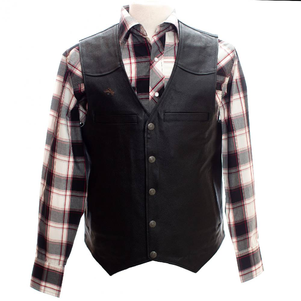 Wyoming Traders Drover's Leather Concealed Carry Vest MEN - Clothing - Outerwear - Vests WYOMING TRADERS Teskeys