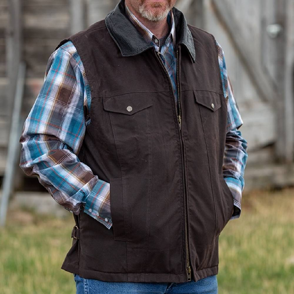 Wyoming Traders Oilskin Concealed Carry Vest MEN - Clothing - Outerwear - Vests WYOMING TRADERS Teskeys