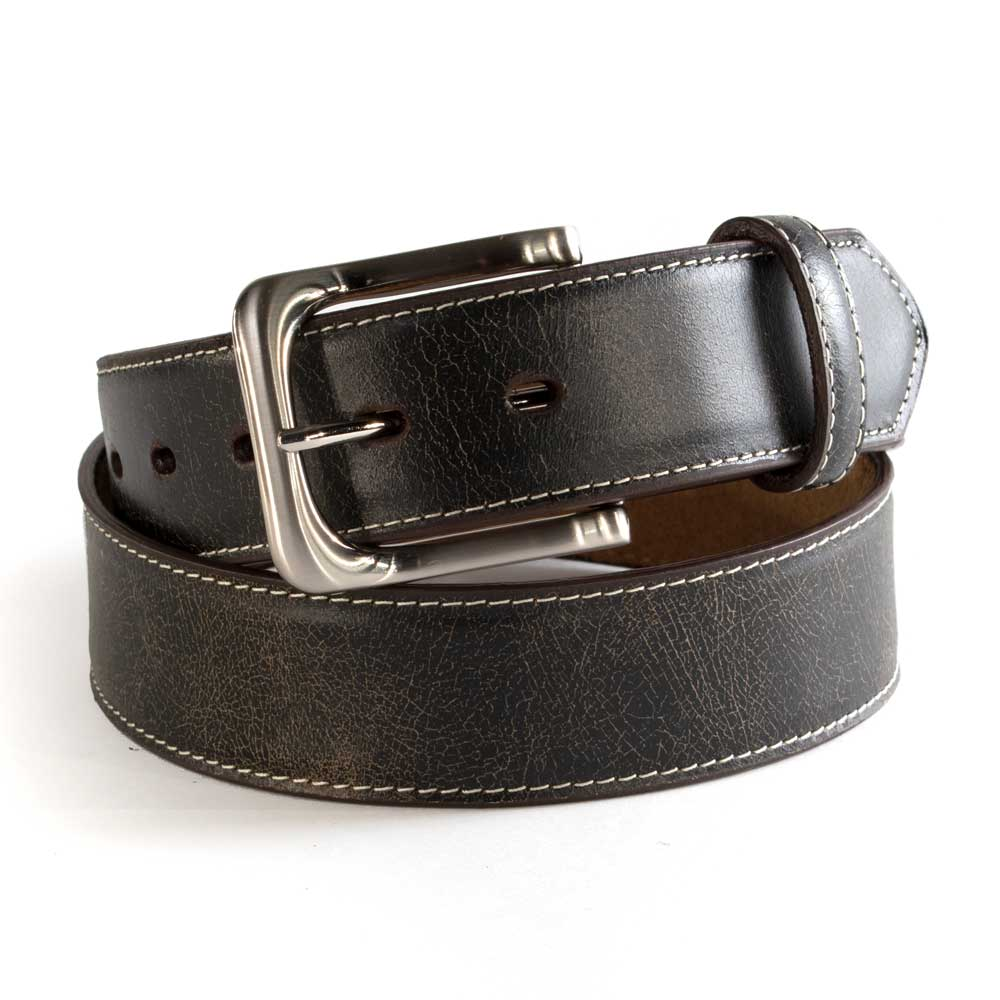 Twisted X Distressed Leather Belt MEN - Accessories - Belts & Suspenders WESTERN FASHION ACCESSORIES Teskeys