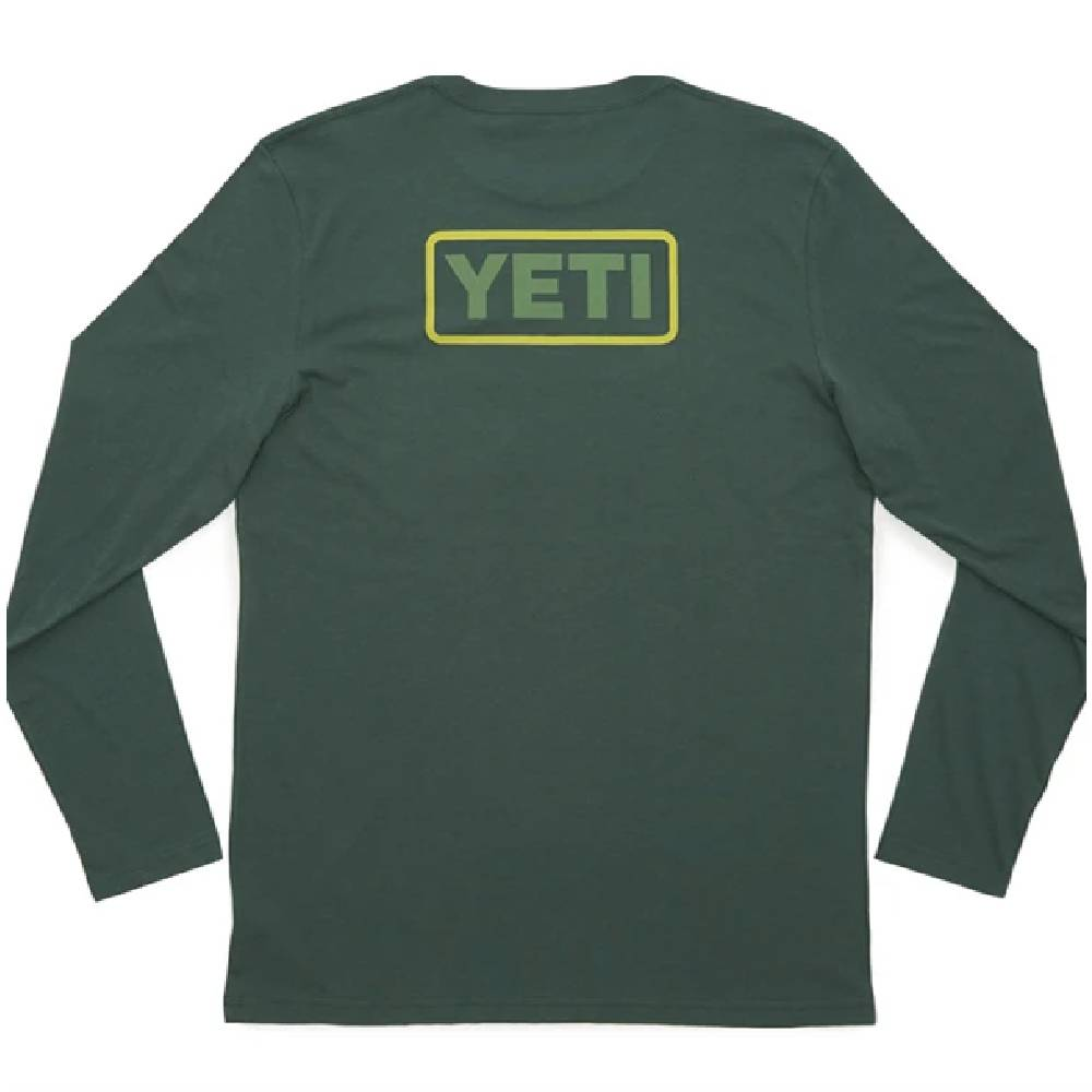 Yeti Logo Badge Long Sleeve Tee - Green MEN - Clothing - T-Shirts & Tanks YETI Teskeys