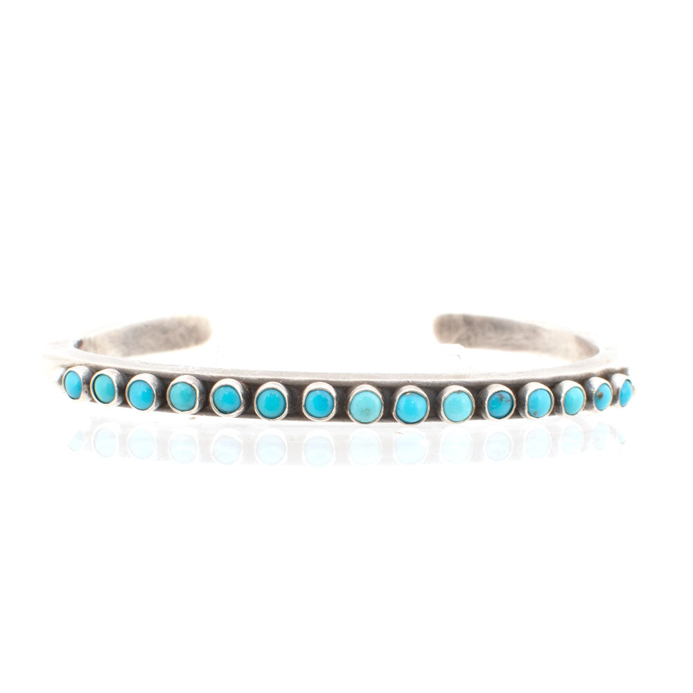 Dennis Hogan Thin Turquoise Cuff WOMEN - Accessories - Jewelry - Bracelets PEYOTE BIRD DESIGNS Teskeys