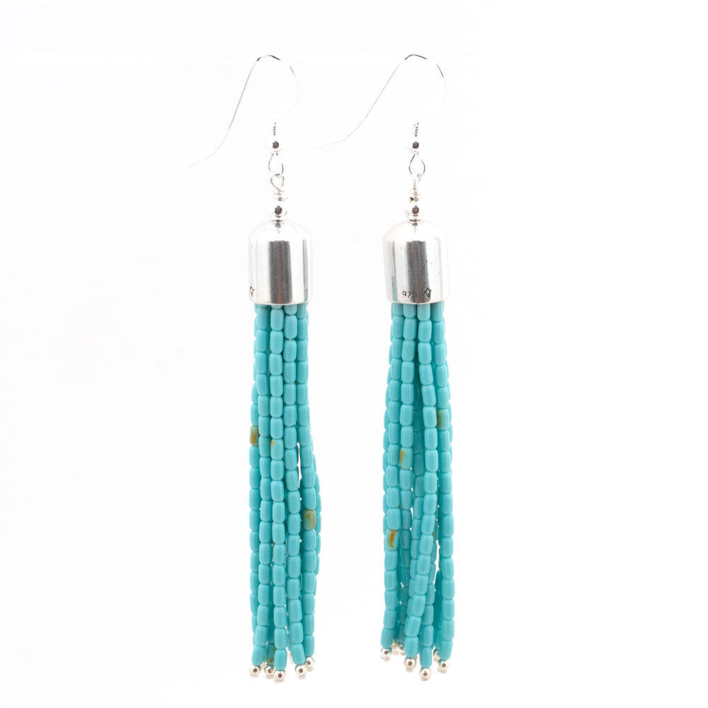 Turquoise Bead Tassle Earrings WOMEN - Accessories - Jewelry - Earrings SUNWEST SILVER Teskeys