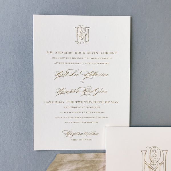Gabbert Wedding Invitation - Deposit Listing
