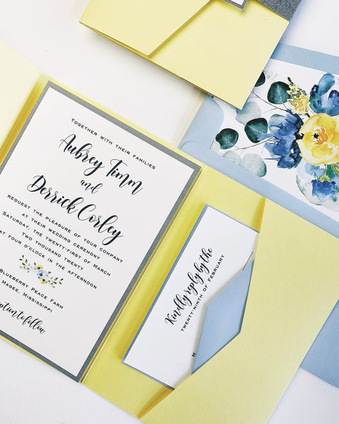 Timm Wedding Invitation - Deposit Listing