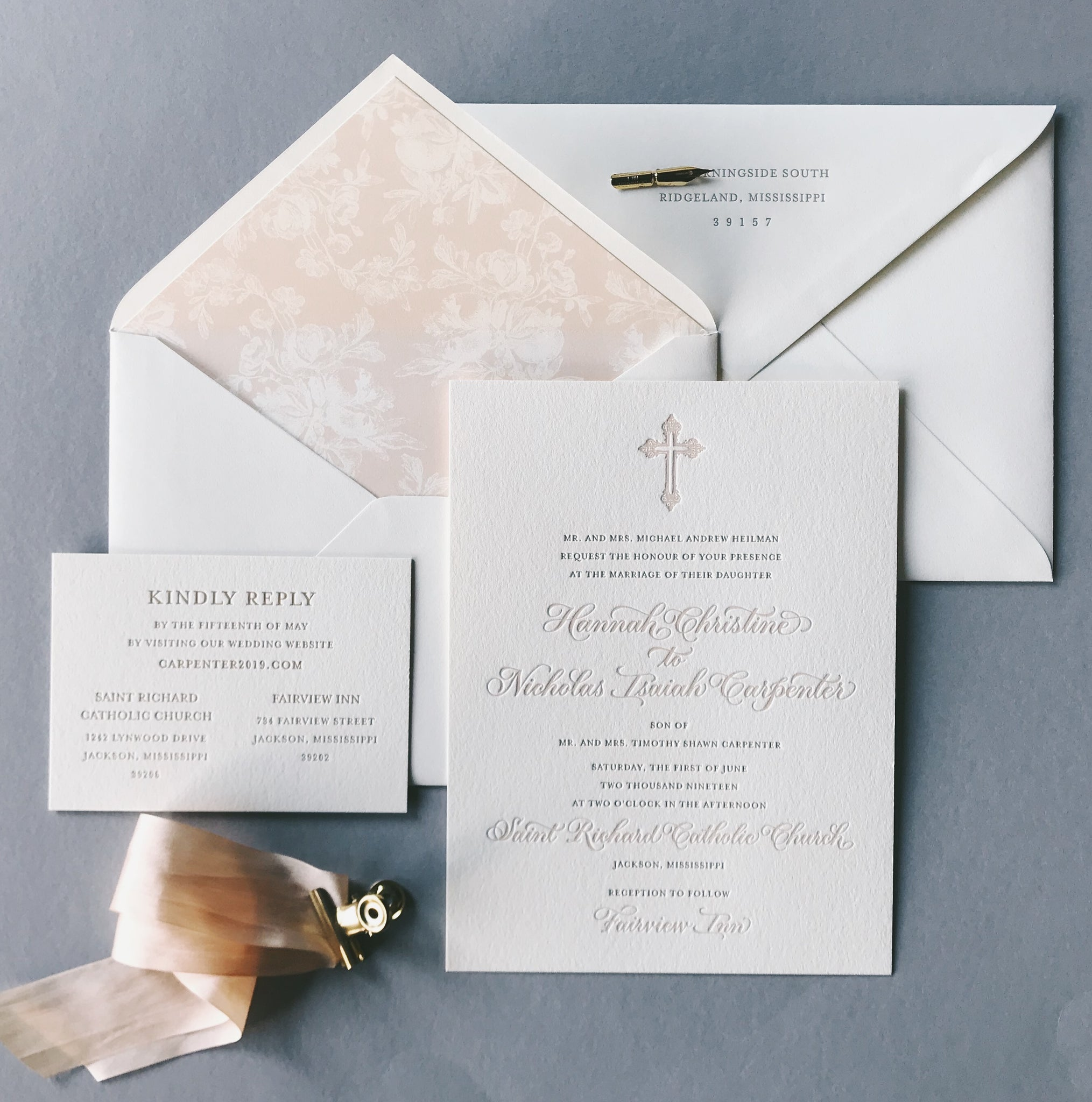 Hannah Wedding Invitation - Deposit Listing