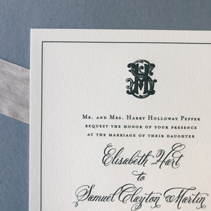 Pepper Wedding Invitation - Deposit Listing