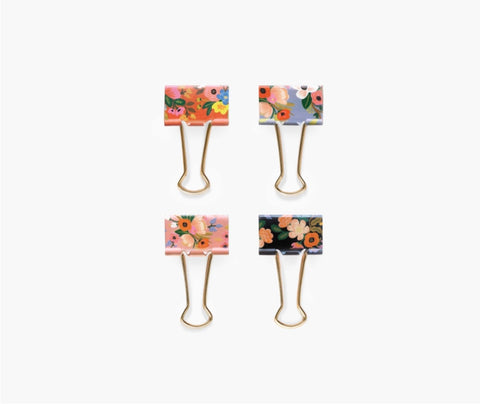 Lively Floral Binder Clips- Rifle Paper Co.