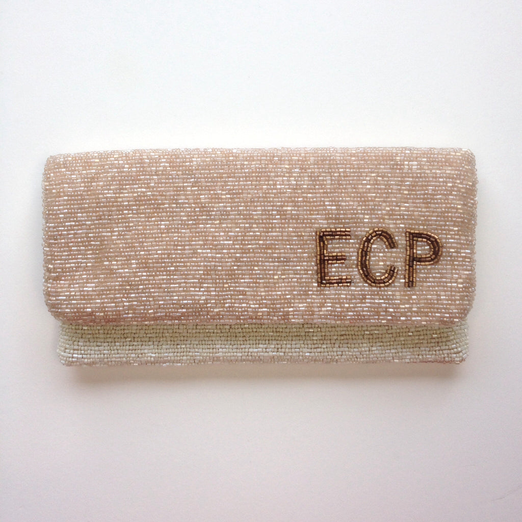 Monogram  Beaded  Purse - Emily Style