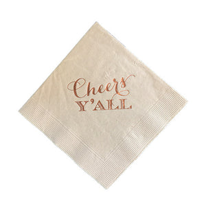 Cheers Y'all Napkin