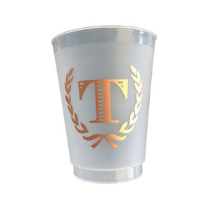 Striped Initial Cup