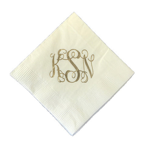Curly Monogram Napkin