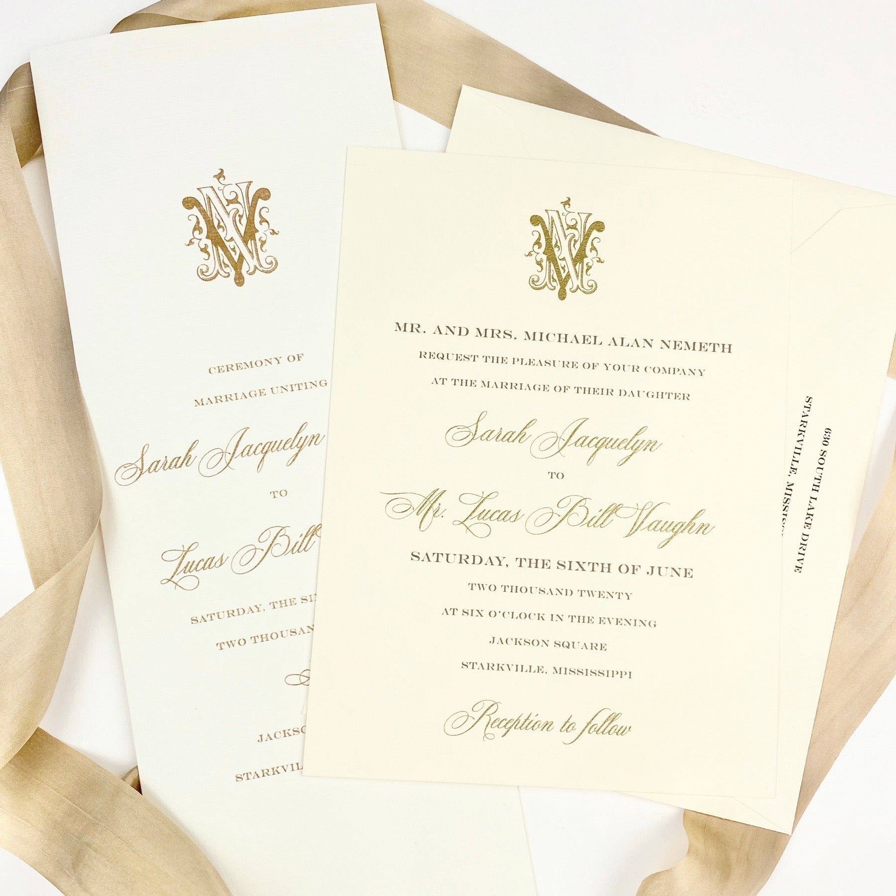Jacquelyn Wedding Invitation - Deposit Listing
