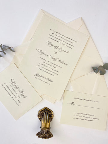 Charley Wedding Invitation - Deposit Listing