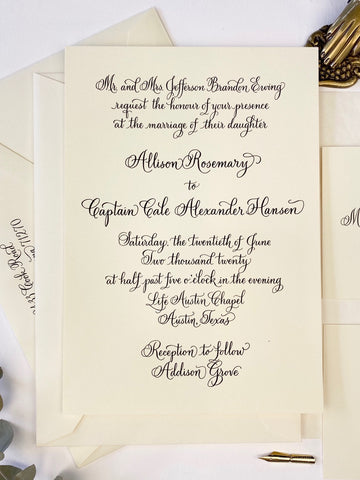 Ewing Wedding Invitation - Deposit Listing