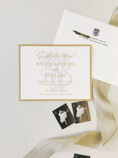 Fenelon Wedding Invitation - Deposit Listing