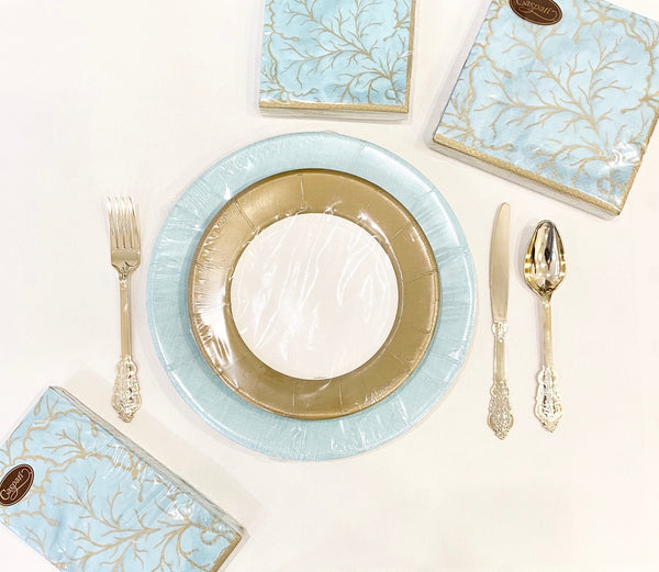 Aqua Majolica Party Goods Collection
