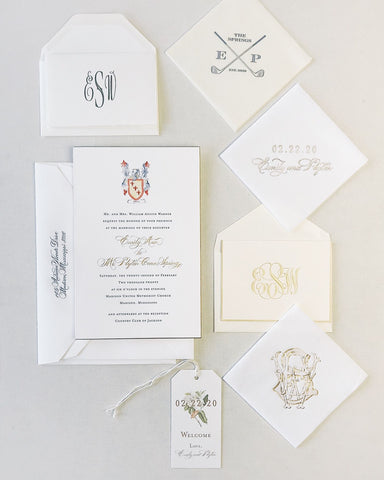 Warner Wedding Invitation - Deposit Listing