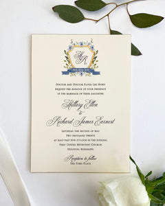 Horn Wedding Invitation - Deposit Listing