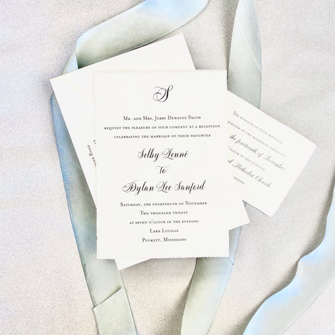 Selby Wedding Invitation - Deposit Listing