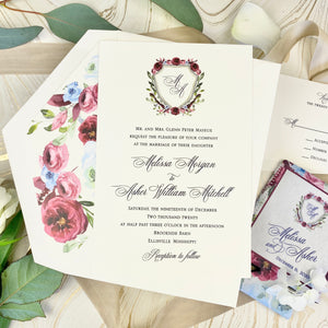 Mayeux Wedding Invitation - Deposit Listing