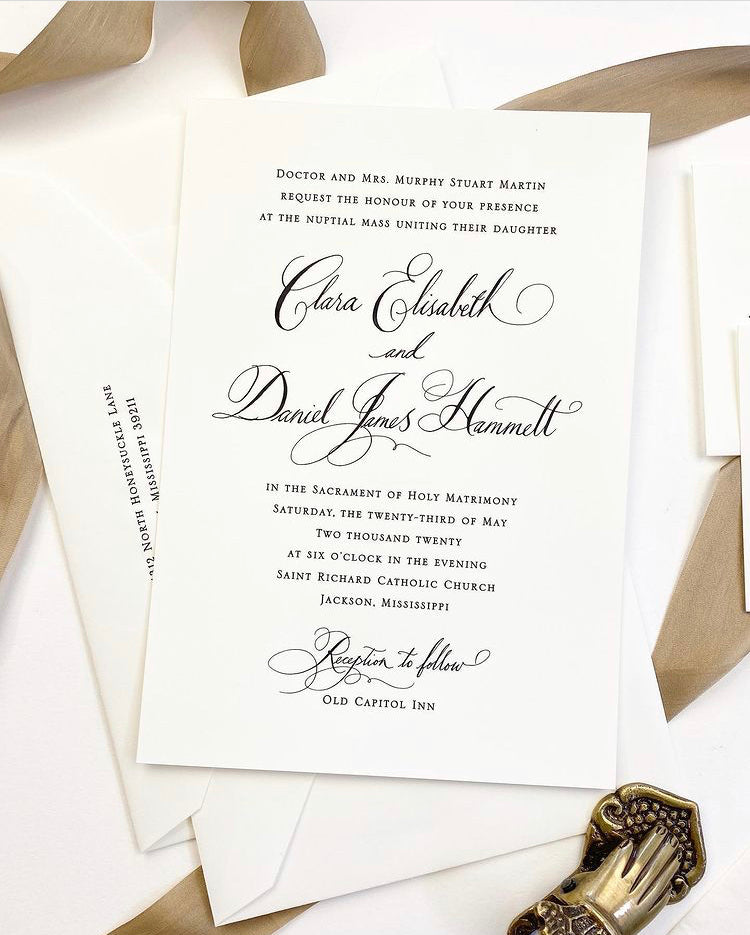 Clara Wedding Invitation - Deposit Listing