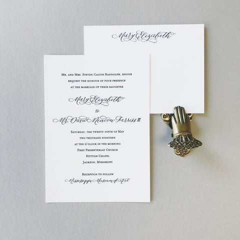 Randolph Wedding Invitation - Deposit Listing
