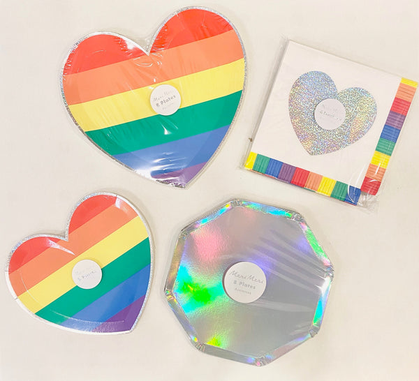 Rainbow Heart Party Goods Collection