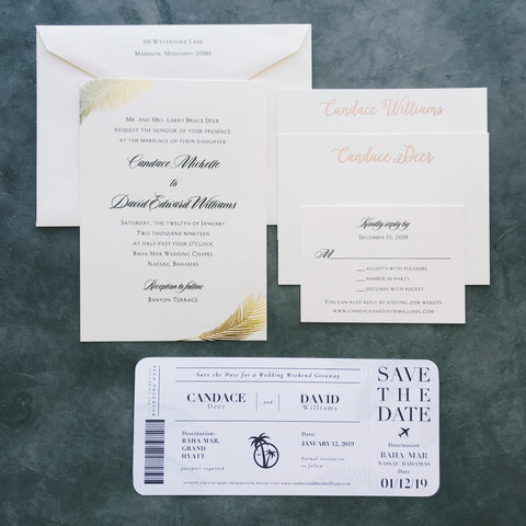 Deer Wedding Invitation - Deposit Listing