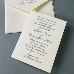 Fentress Wedding Invitation - Deposit Listing
