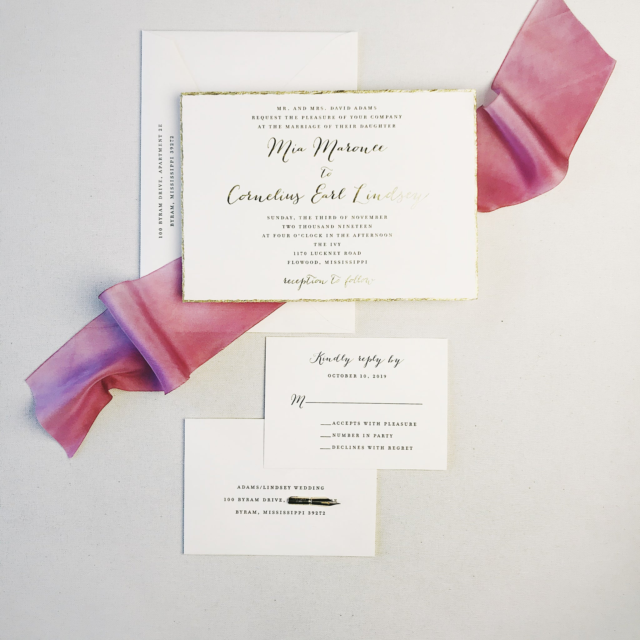 Adams Wedding Invitation - Deposit Listing