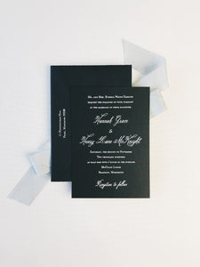 Emmons Wedding Invitation - Deposit Listing