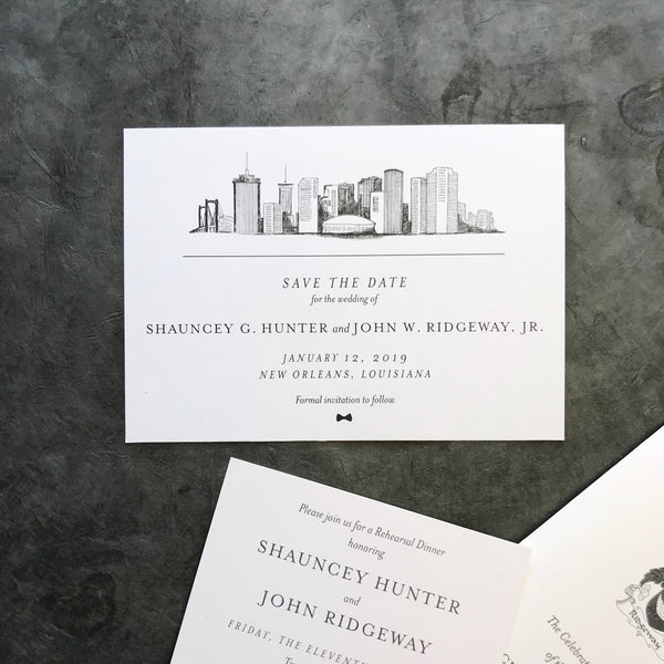 Hunter Wedding Invitation - Deposit Listing