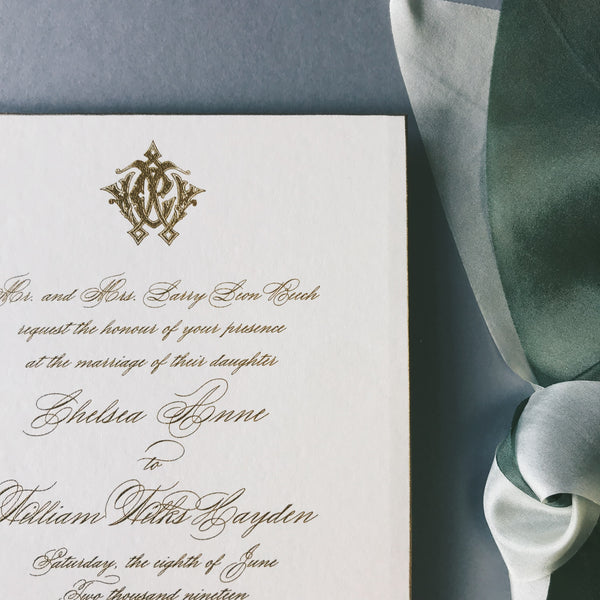 Beech Wedding Invitation - Deposit Listing