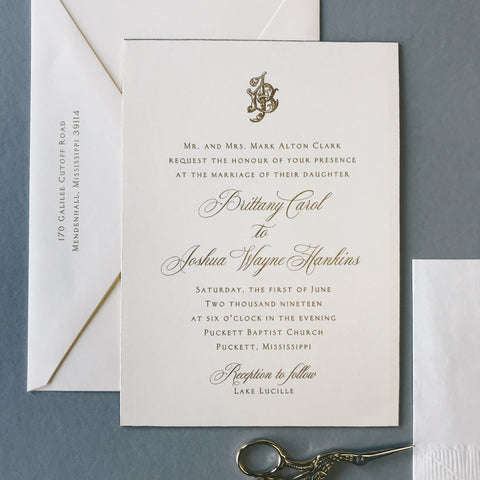 Clark Wedding Invitation - Deposit Listing
