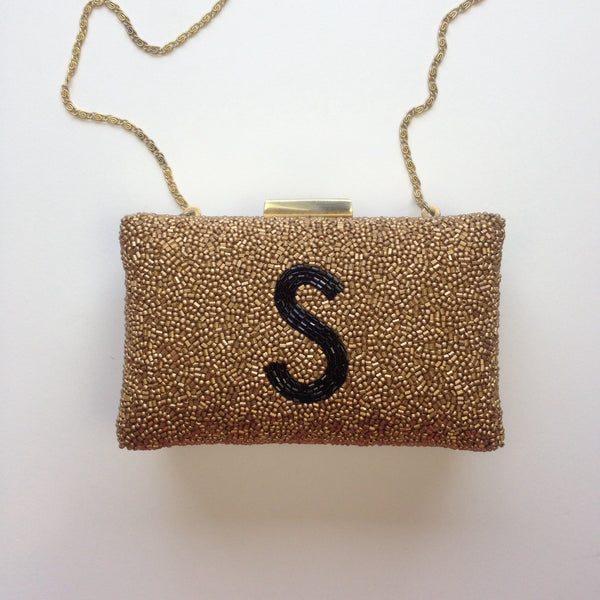 Monogram  Beaded  Purse - Sally Style