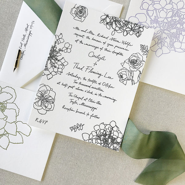 Wolfe Wedding Invitation - Deposit Listing