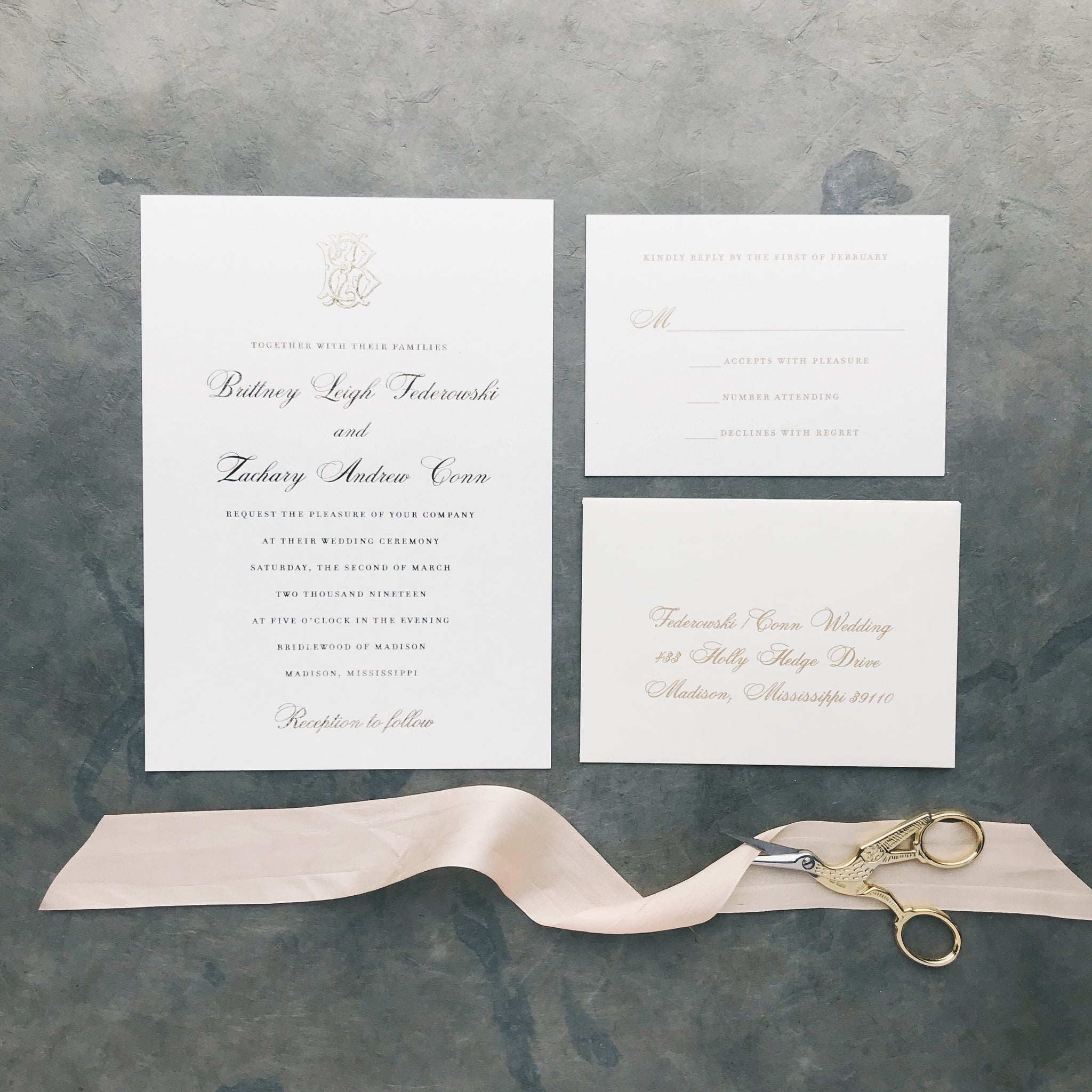 Federowski Wedding Invitation - Deposit Listing