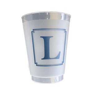Beveled Square Monogram Cup