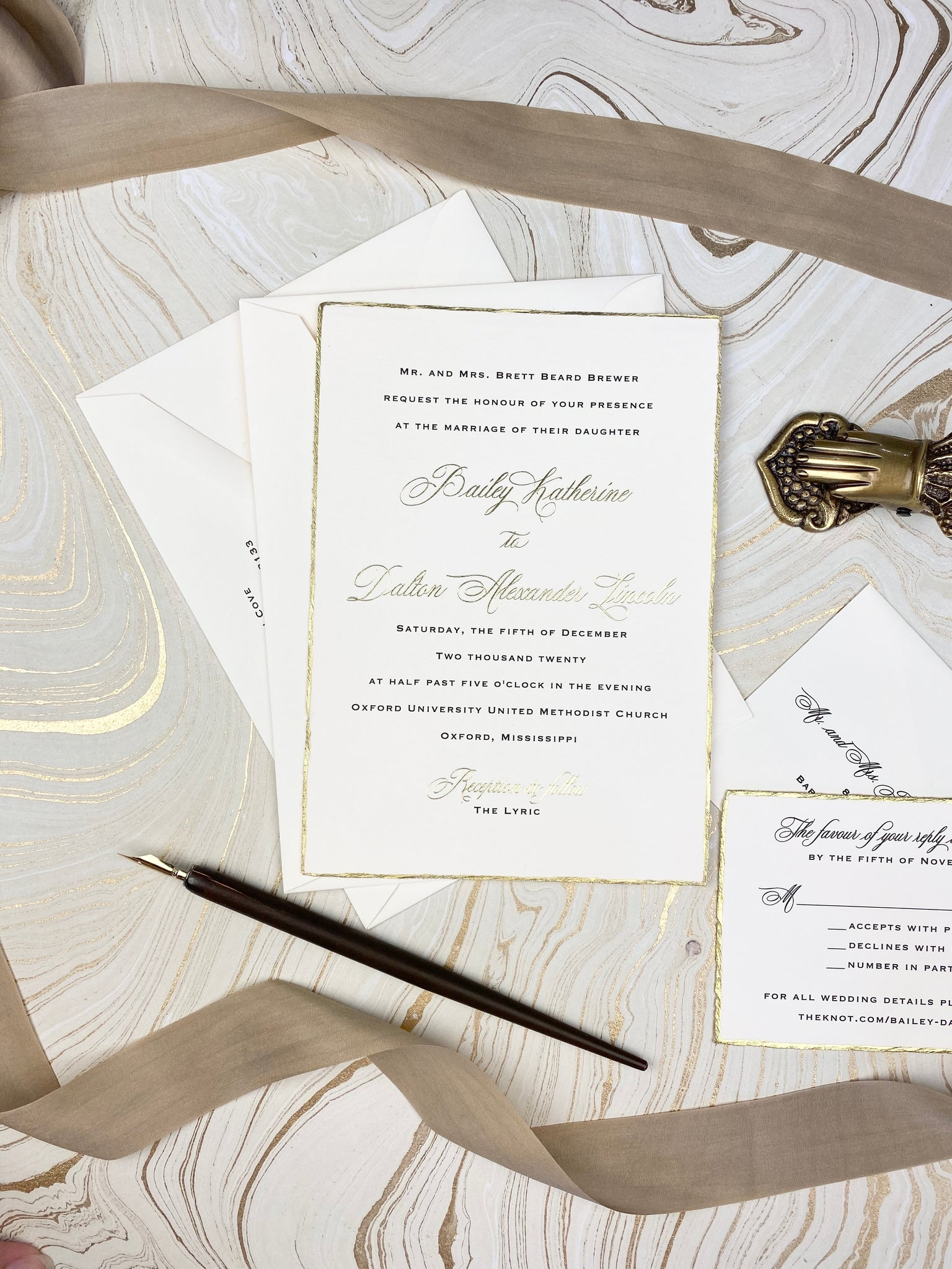 Brewer Wedding Invitation - Deposit Listing