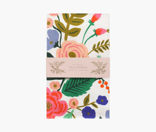 Floral Vines Tea Towel- Rifle Paper Co.