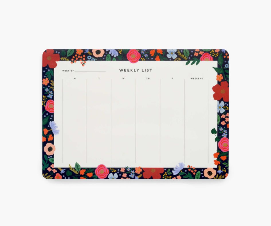 Wild Rose Weekly Desk Pad- Rifle Paper Co.