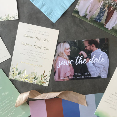 Paige Wedding Invitation - Deposit Listing