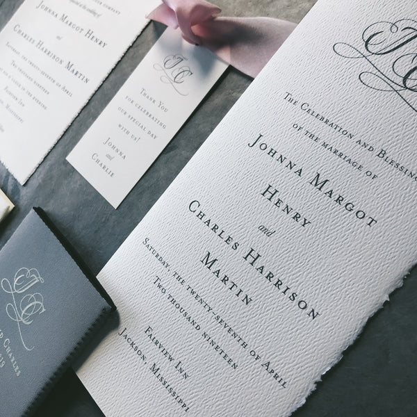 Henry Wedding Invitation - Deposit Listing