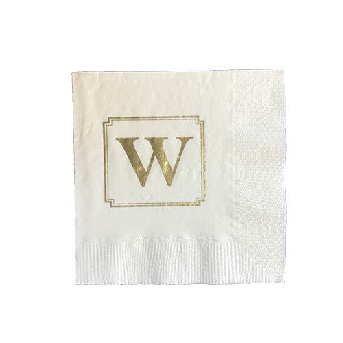 Beveled Square Monogram Napkin