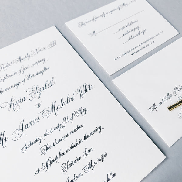 Norris Wedding Invitation - Deposit Listing