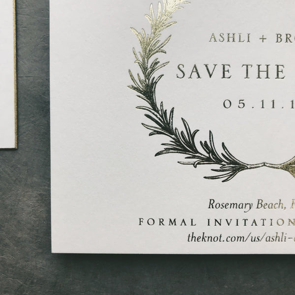 Fitzpatrick Wedding Invitation - Deposit Listing