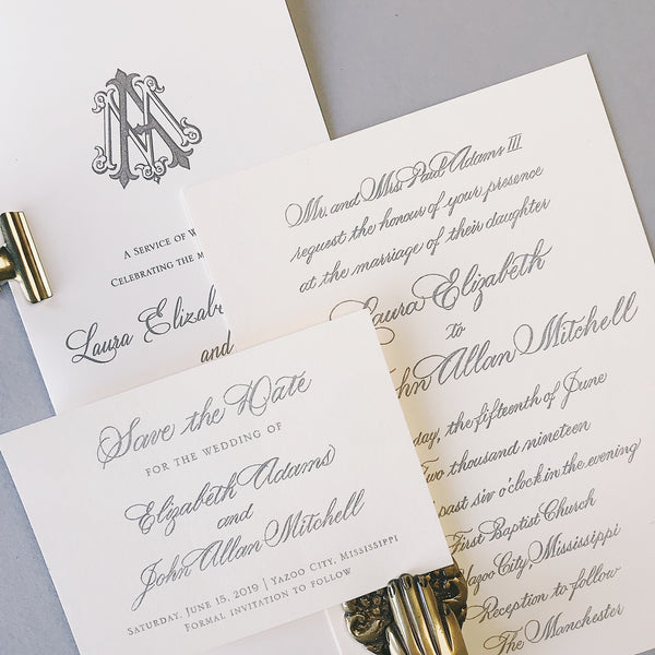 Elizabeth Wedding Invitation - Deposit Listing