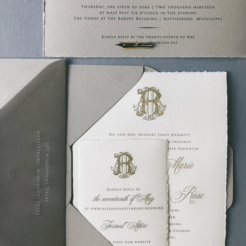 Hammett Wedding Invitation - Deposit Listing